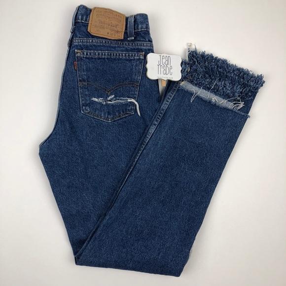 Levi's Denim - Vintage Levi's 517 Relaxed Raw Hem Rip Jeans